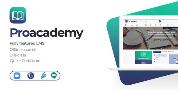 Proacademy v2.4 – LMS & Live Classes Marketplace
