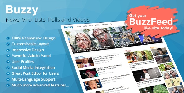 Buzzy v4.0.1 – News, Viral Lists, Polls and Videos