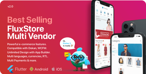 Fluxstore Multi Vendor v2.5.0 – Flutter E-commerce Full App