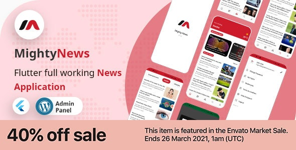 MightyNews v16 – Flutter 2.0 News App with WordPress backend