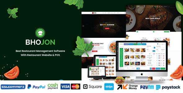 Bhojon v2.8 – Best Restaurant Management Software with Restaurant Website