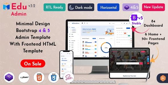 Eduadmin v3.2 – Responsive Bootstrap 5 Admin Template Dashboard