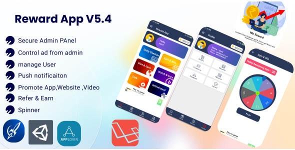 Reward App Lucky Spin v5.3.1 + Start App ads + Adcolony