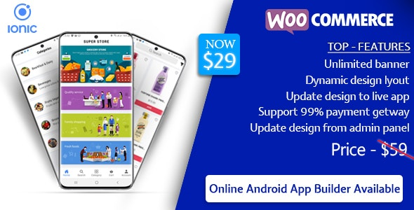 Quick Order ionic 5 mobile app for woocommerce with multivendor features v1.9.2