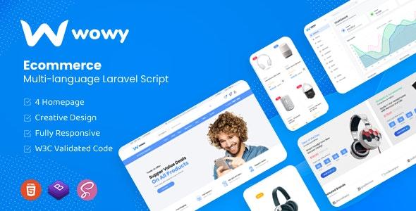 Wowy v1.2 – Multi-language Laravel eCommerce Script
