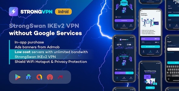 StrongVPN v1.4 – StrongSwan IKEv2 VPN stable & free VPN proxy for Android